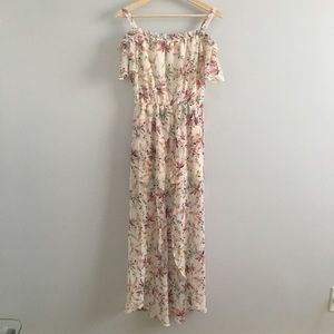 Lilly Rose floral romper with long veil